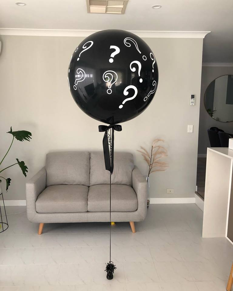 Question Marked Gender Reveal Balloon