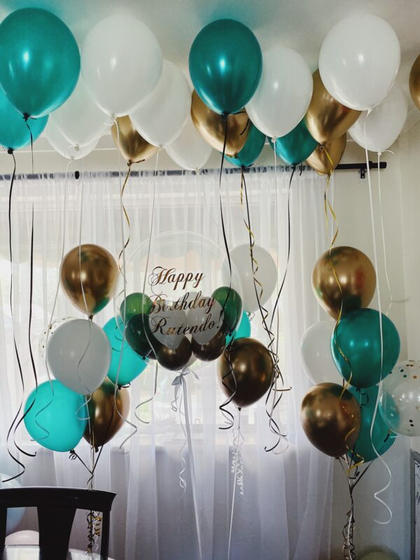helium bubble balloon party event pack