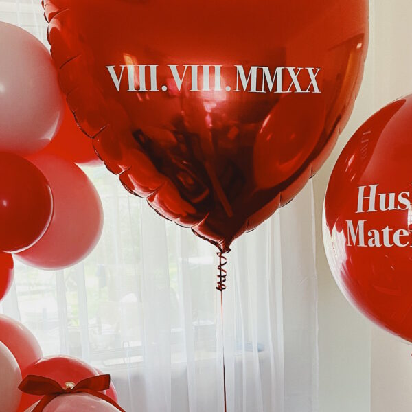 Love Heart Helium Balloon